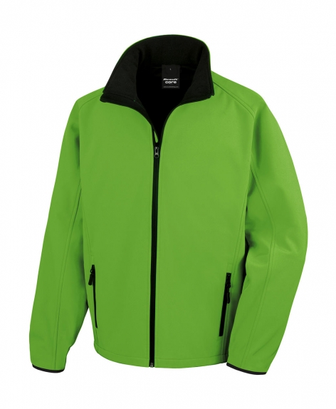 Kurtka Result Softshell Printable - kolor Vivid-green/black