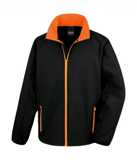 Kurtka Result Softshell Printable - kolor Black/orange