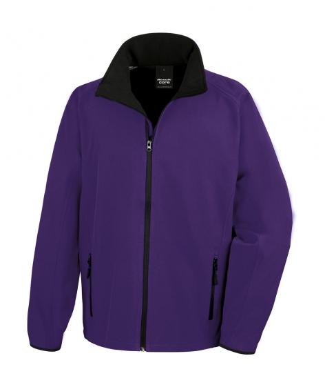 Kurtka Result Softshell Printable - kolor Purple/black